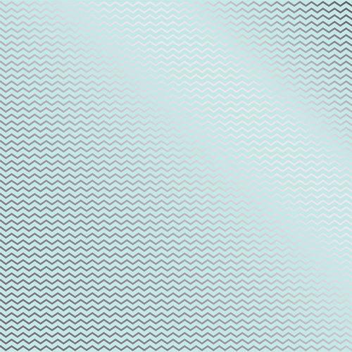Papel Scrapbook Toke e Crie Sdf740 Simples 30,5x30,5cm Metalizado Chevron Prateado Fundo Azul