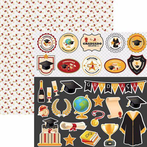 Papel Scrapbook Toke e Crie Sdf771 Dupla Face 30,5x30,5cm Formatura Recortes By Flavia Terzi