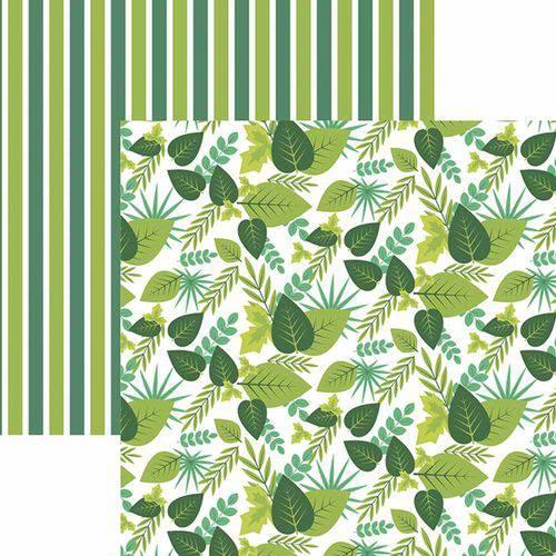 Papel Scrapbook Toke e Crie Sdf833 30,5x30,5cm Folhagem Tons de Verde By Ivy Larrea