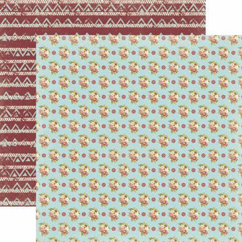 Papel Scrapbook Toke e Crie Sdf805 Dupla Face 30,5x30,5cm Floral Bouquet