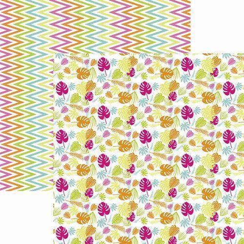 Papel Scrapbook Toke e Crie Sdf834 30,5x30,5cm Folhagem Colorida By Ivy Larrea