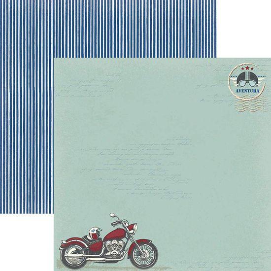 Papel Scrapbook Toke e Crie SDF825 Dupla Face 30,5x30,5cm Ele Aventura By Ivana Madi