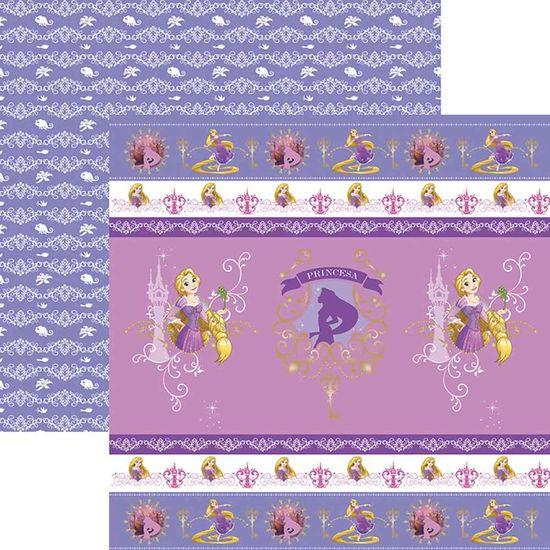 Papel Scrapbook Toke e Crie SDFD149 Dupla Face 30,5x30,5cm Rapunzel 1 Fitas e Rótulos