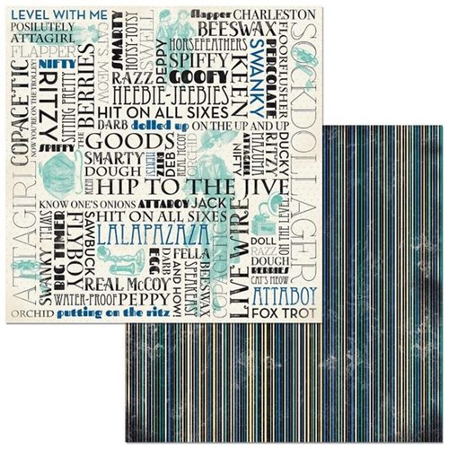 Papel Scrapbook WER320 30,5x30,5 Bo Bunny Palavras