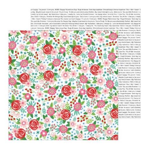 Papel Scrapbook WER303 30,5x30,5 Pebbles Bouquet