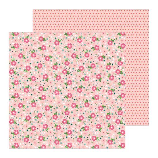 Papel Scrapbook WER304 30,5x30,5 Pebbles Flores