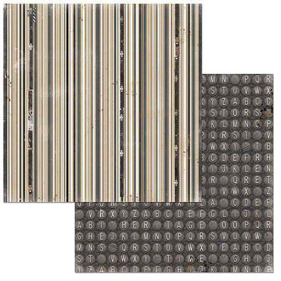 Papel Scrapbook WER111 30,5x30,5 Bo Bunny Memórias