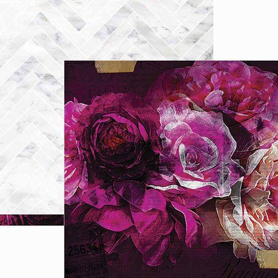 Papel Scrapbook WER162 30,5x30,5 Heidi Swapp Florescer