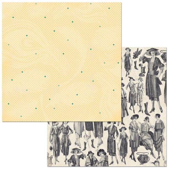Papel Scrapbook WER319 30,5x30,5 Bo Bunny Damas