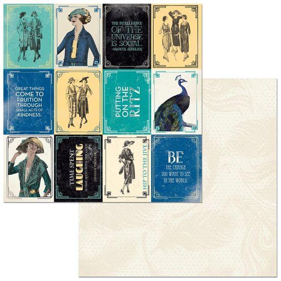 Papel Scrapbook WER324 30,5x30,5 Bo Bunny Mini Cards