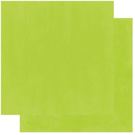 Papel Scrapbook WER240 30,5x30,5 Bo Bunny Verde Capim