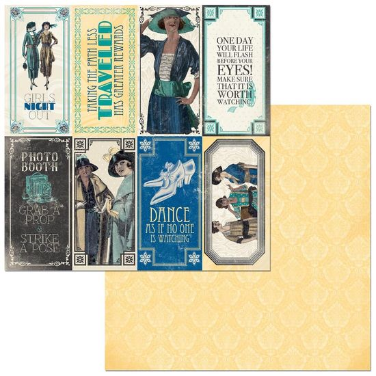 Papel Scrapbook WER325 30,5x30,5 Bo Bunny Cards