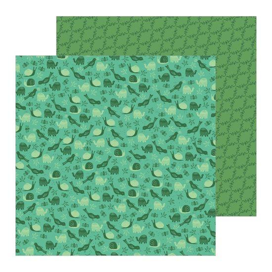 Papel Scrapbook WER252 30,5x30,5 Pebbles Bichinhos no Jardim