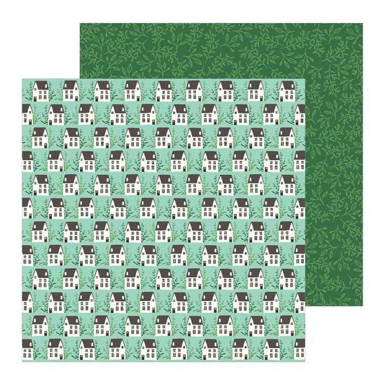 Papel Scrapbook WER254 30,5x30,5 Pebbles Vilarejo