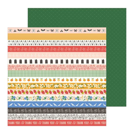 Papel Scrapbook WER256 30,5x30,5 Pebbles Barrados