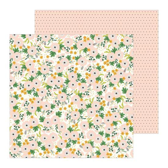 Papel Scrapbook WER257 30,5x30,5 Pebbles Flores