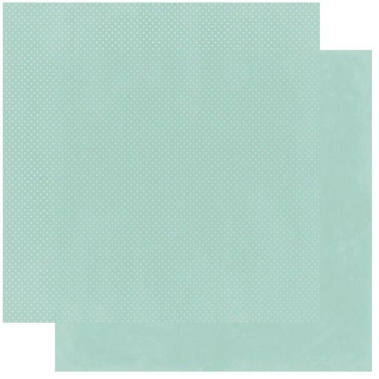 Papel Scrapbook WER226 30,5x30,5 Bo Bunny Verde Gelo