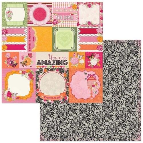 Papel Scrapbook WER273 30,5x30,5 Bo Bunny Cards