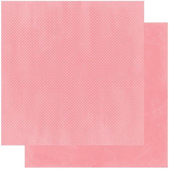 Papel Scrapbook WER237 30,5x30,5 Bo Bunny Rosa Flamingo