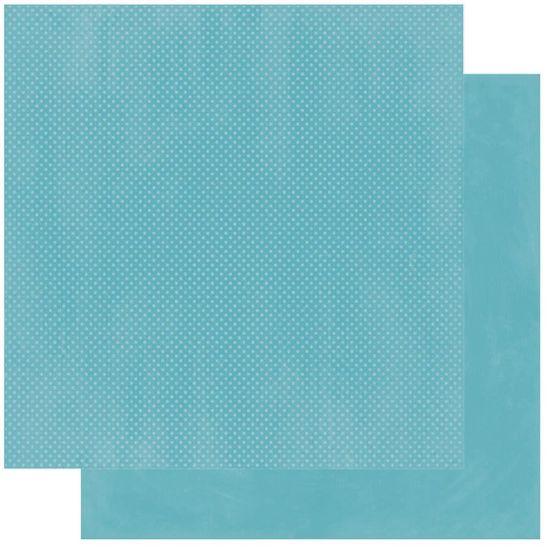 Papel Scrapbook WER227 30,5x30,5 Bo Bunny Verde Mar