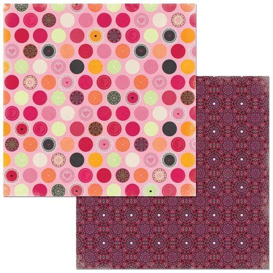 Papel Scrapbook WER274 30,5x30,5 Bo Bunny Mini Mandalas