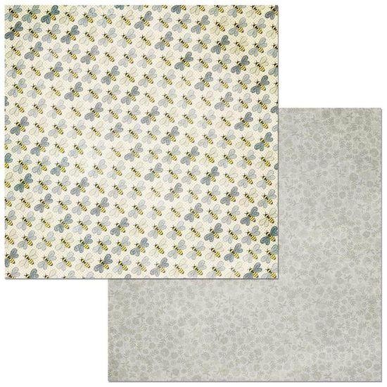 Papel Scrapbook WER276 30,5x30,5 Bo Bunny Abelhas