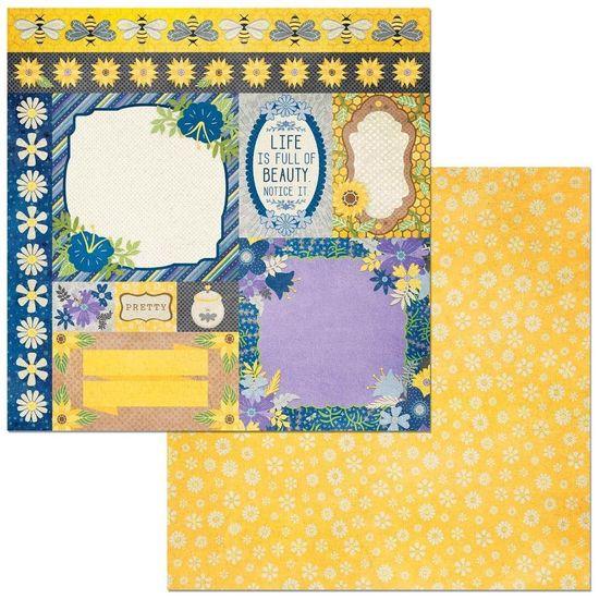 Papel Scrapbook WER279 30,5x30,5 Bo Bunny Cards