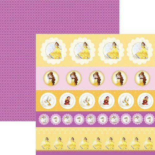 Papel Scrapfesta Disney Princesa Bela Selos e Tags Sdfd067 - Toke e Crie