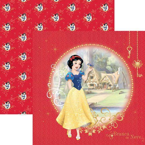 Papel Scrapfesta Disney Princesa Branca de Neve Guirlanda Sdfd075 - Toke e Crie