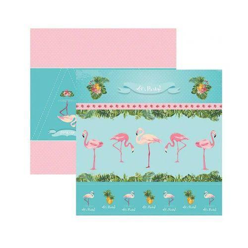 Papel SDF748 Festa DF Flamingos Cenários e Bandeirolas