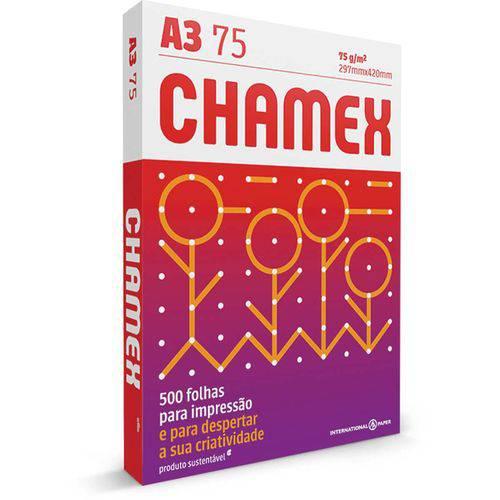 Papel Sulfite A3 Chamex 75g 500 Fls