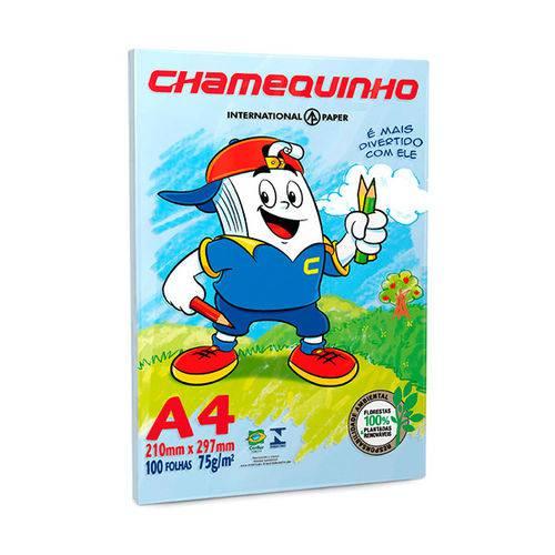Papel Sulfite A4 - Azul - 75G - C/ 100 Folhas - Chamequinho