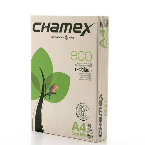 Papel Sulfite A4 Eco Reciclado Chamex 500 Folhas 75g/m²