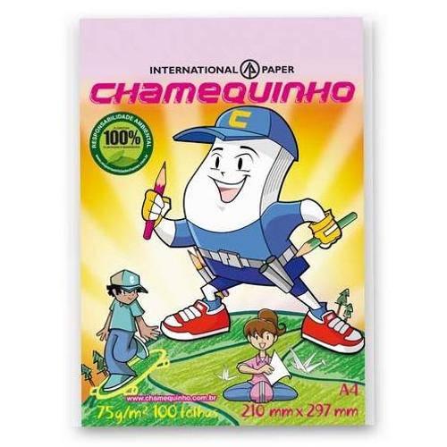 Papel Sulfite A4 Rosa Chamequinho - 100 Folhas