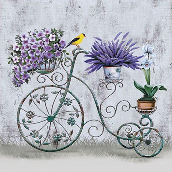 Papel Transfer 30x30 Bicicleta e Flores PT30-014 - Litoarte