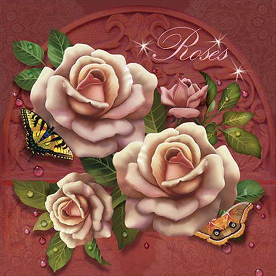 Papel Transfer 30x30 Roses PT30-011 - Litoarte