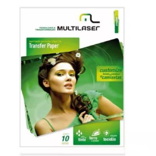 Papel Transfer Multilaser para Tecidos A4 130g/m2 A4 - PE020