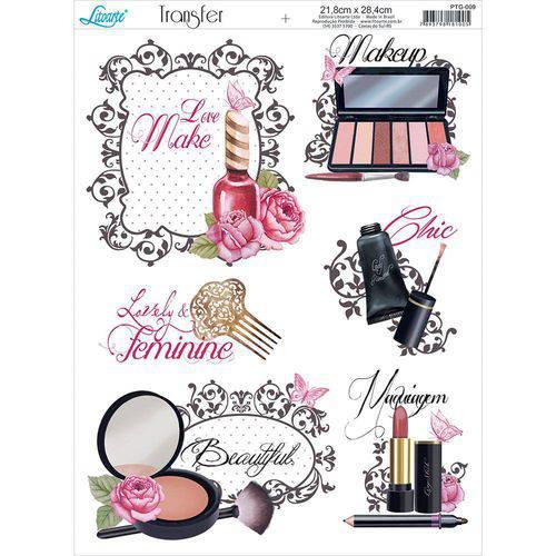 Papel Transfer para Decoupage Litoarte 21,8 X 28,4 Cm - Modelo Ptg- 009 Love Make Up: Maquiagens