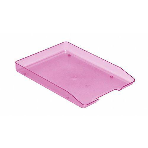 Papeleira Fixa Poliestireno 1 Divisória Rosa