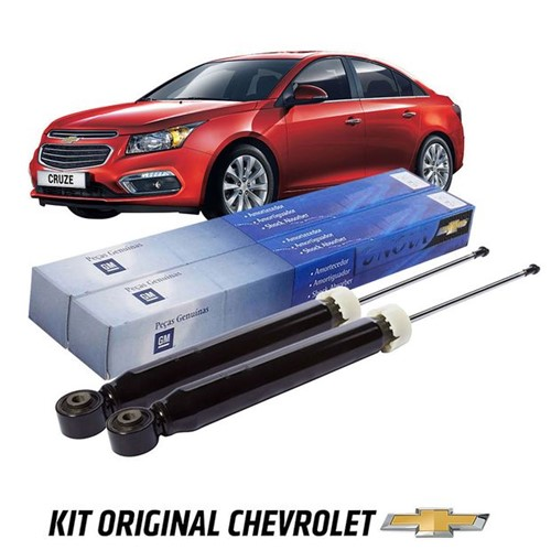 Par Amortecedores Traseiros Hatch/sedan 1.8 16v Ecotec Kit321 Cruze