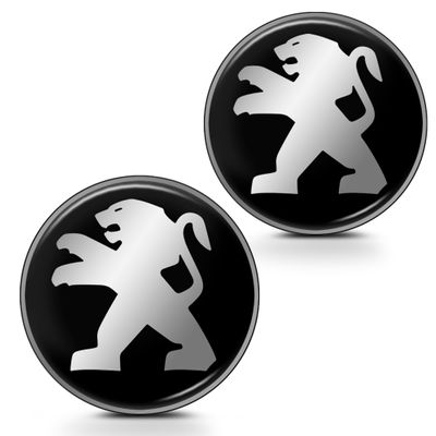 Par de Adesivo Emblema Resinado para Chave Canivete - Linha Peugeot