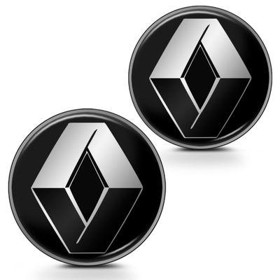 Par de Adesivo Emblema Resinado para Chave Canivete - Linha Renault