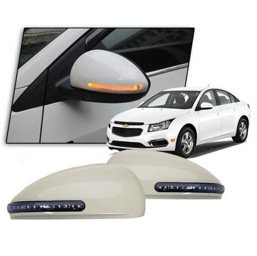 Par de Capa do Espelho Retrovisor Externo Hatch/sedan com Seta Led Pi0018 Cruze