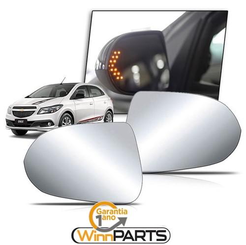 Par de Lentes com Seta do Espelho Retrovisor Exclusividade Nova Chevrolet Prisma /onix