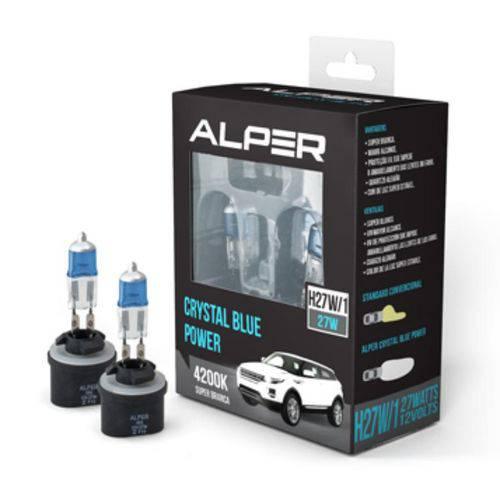 Par Kit Lâmpada Crystal Blue Super Branca Alper H27W/1 4200k 27W Farol Neblina
