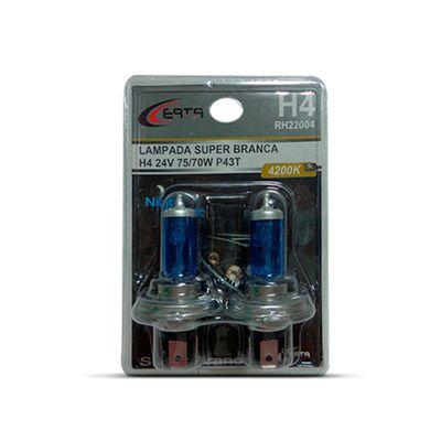 Par Lâmpada Super Branca H4 24V 70W 4200K
