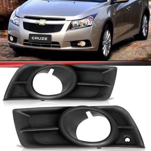 Par Moldura Grade do Milha Chevrolet Cruze Sedan 2011 2012 2013 2014 com Furo