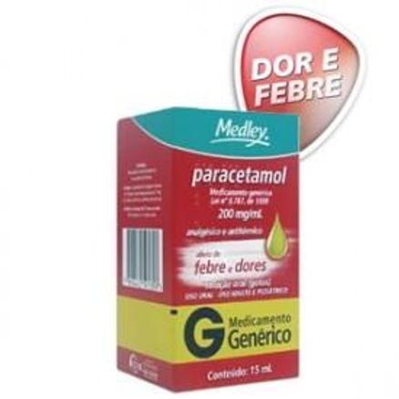 Paracetamol 200mg/ml Solução Oral Gotas 15ml Generico Medley