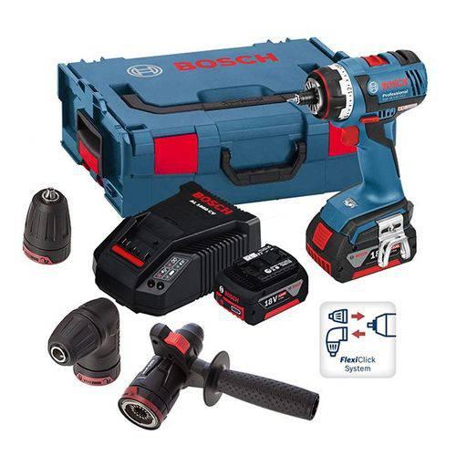 Parafusadeira à Bateria 18V Gsr 18 V-Ec FC2 Flexiclick 4 em 1 - Bosch