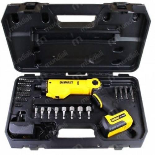Parafusadeira a Bateria Articulavel 6 Volts com Maleta e 45 Acessorios - DCF060 - DeWALT